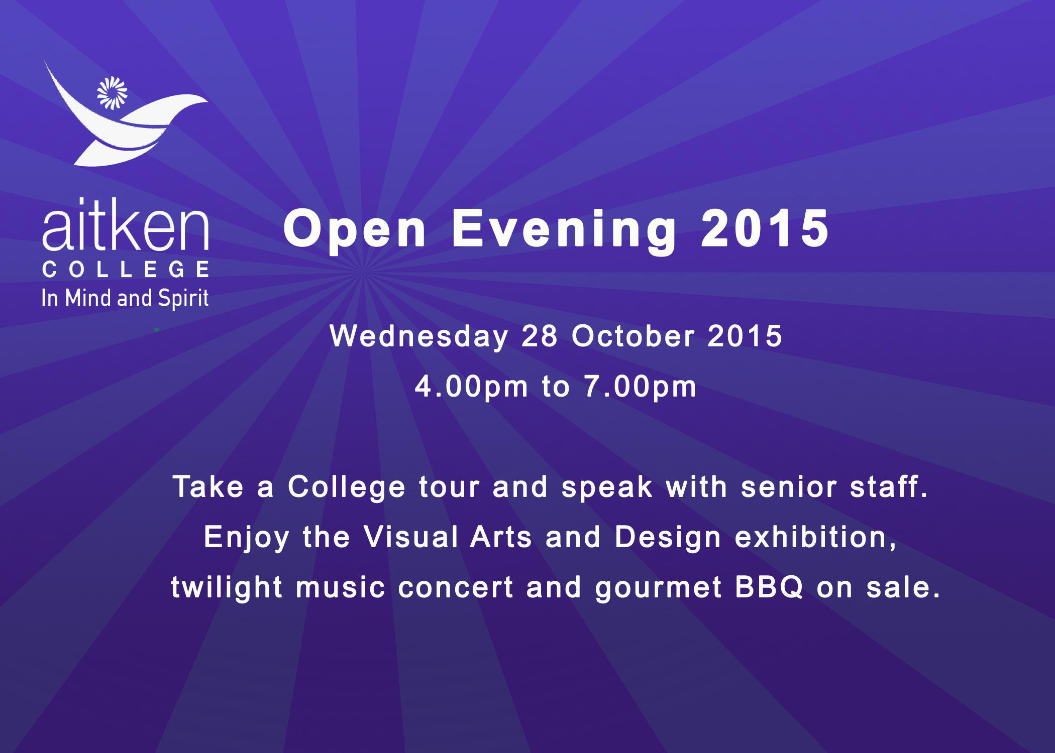 Open Evening 2015